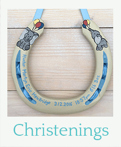 Christening horseshoe gifts