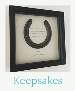 Horseshoe keepsakes